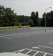 Albion Parking Lot Paving